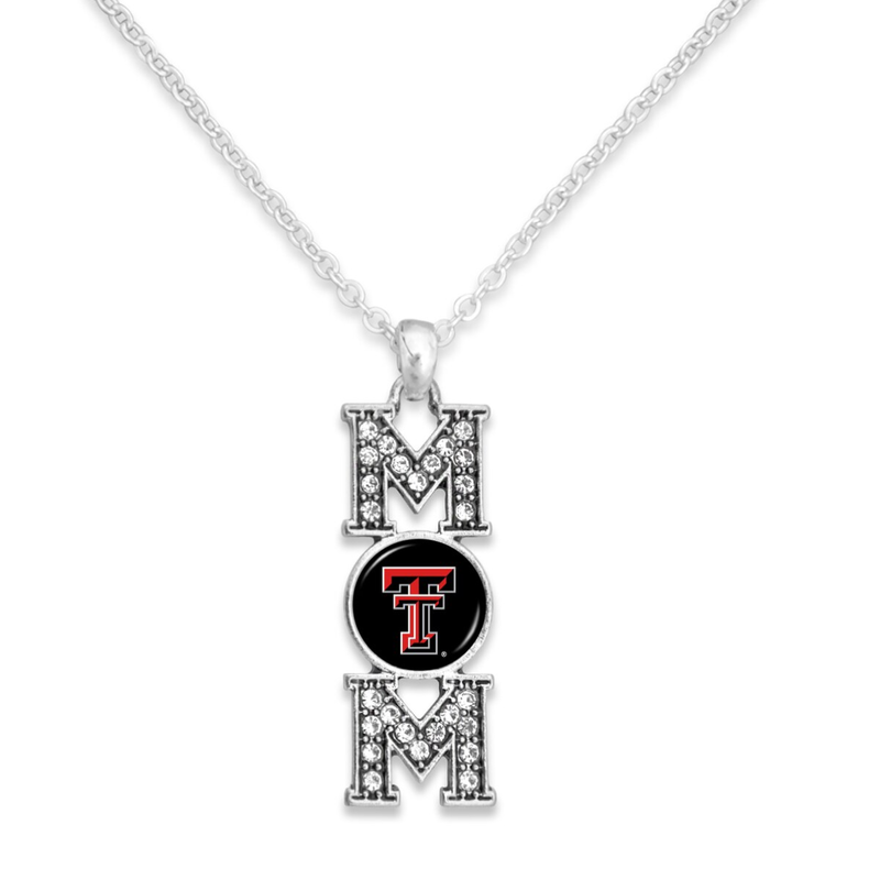 Mom Stacked Rhinestone Necklace