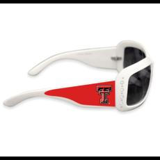 White Square Frame Rhinestone Sunglasses