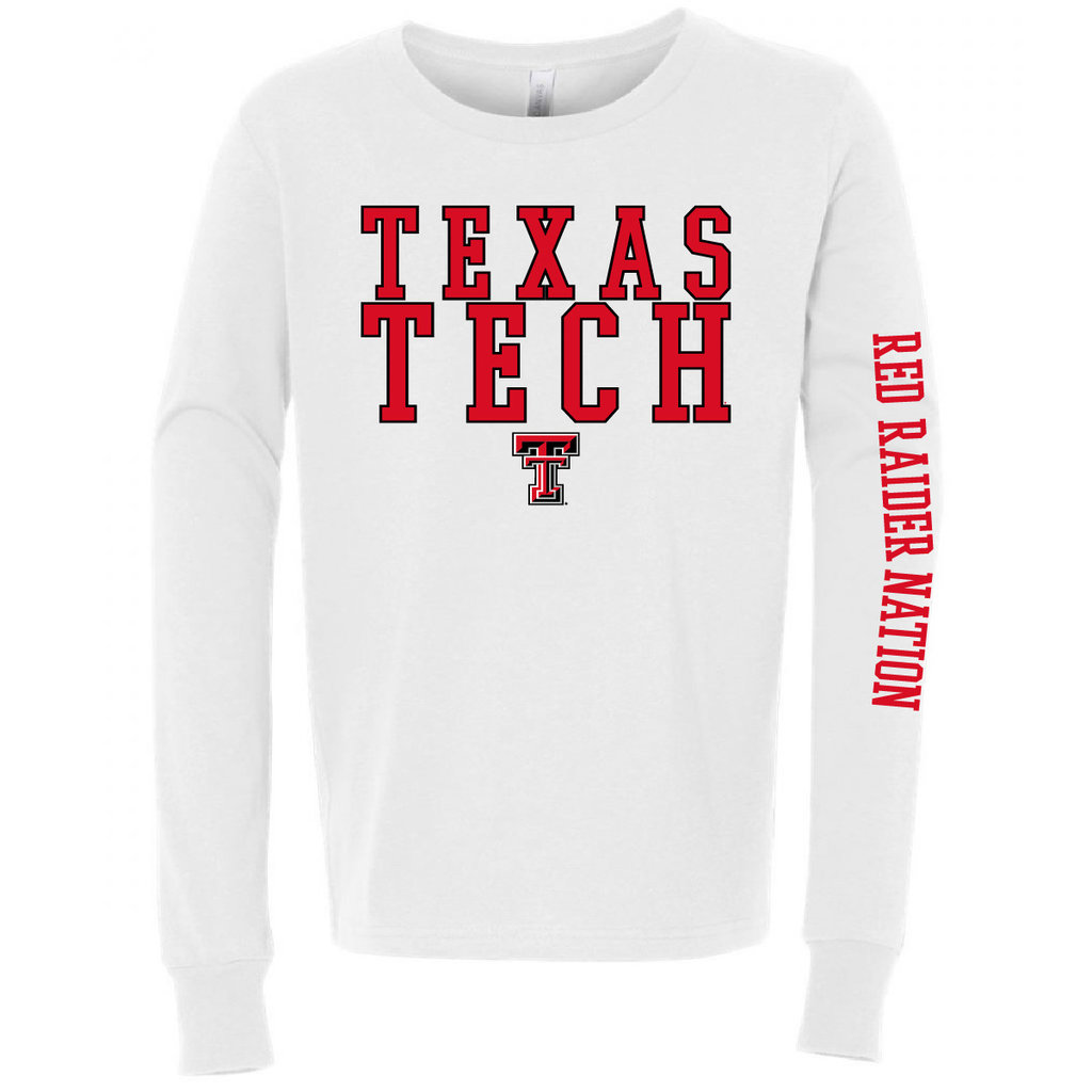 Outline Stack Texas Tech Long Sleeve Tee