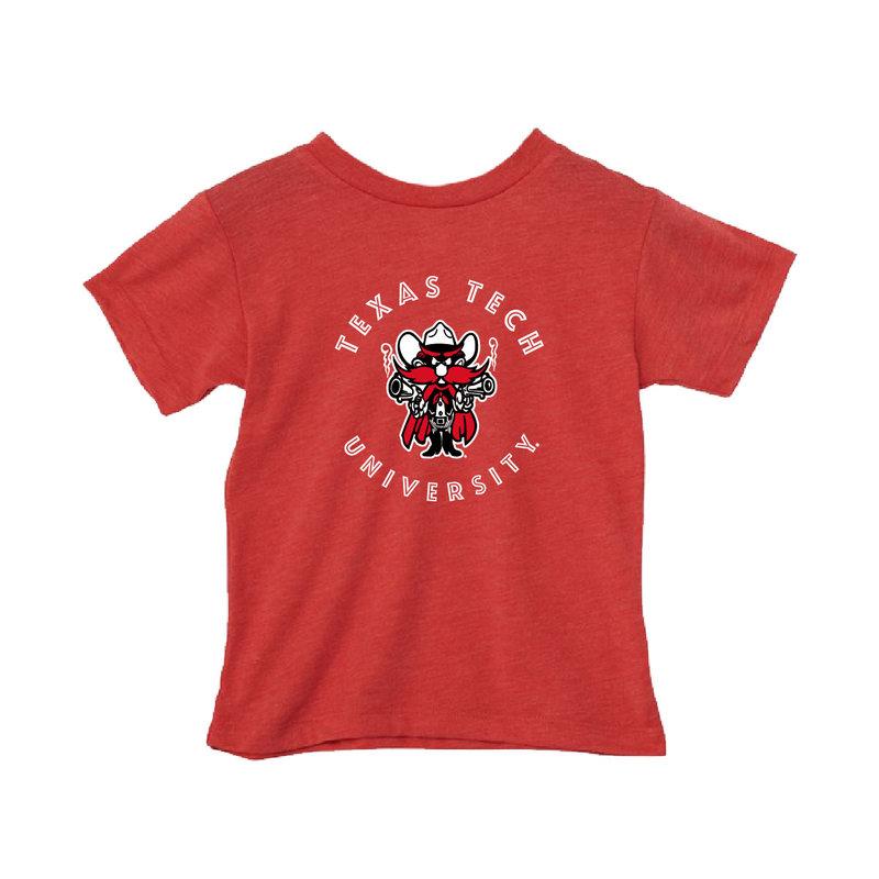 Raider Red Circle Toddler Soft Feel Short Sleeve Tee