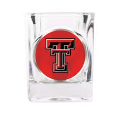 Collectors Square Shot Glass with Metallic Emblem  - 2oz