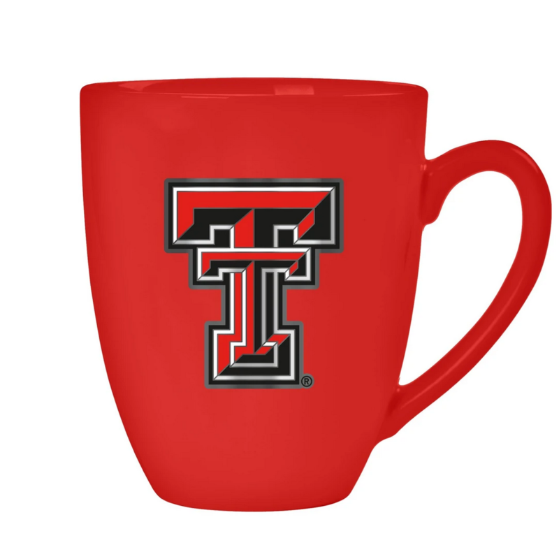 Bistro Mug with Metal Double T - Red, 15oz