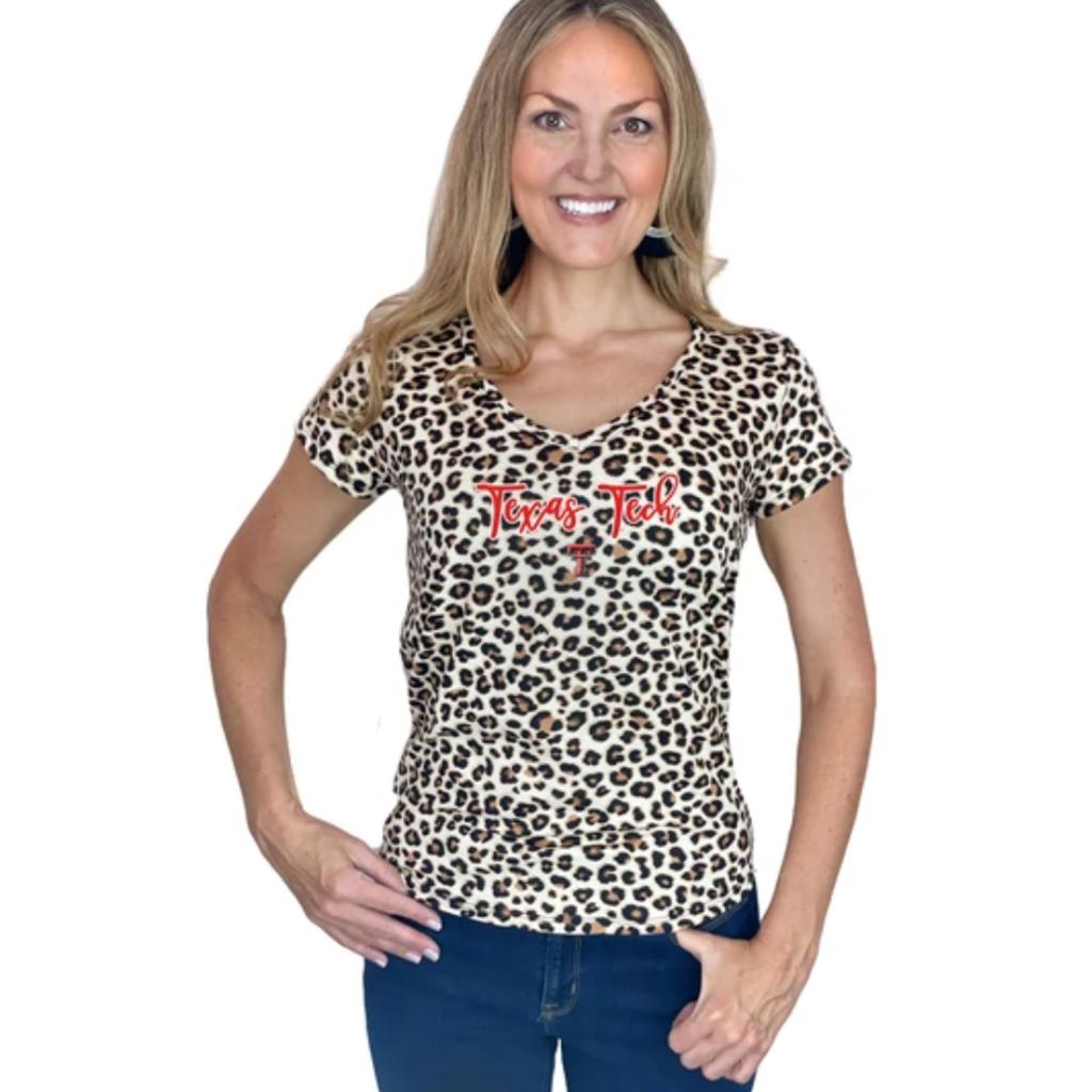 Cheetah Soft Feel Short Sleeve Top