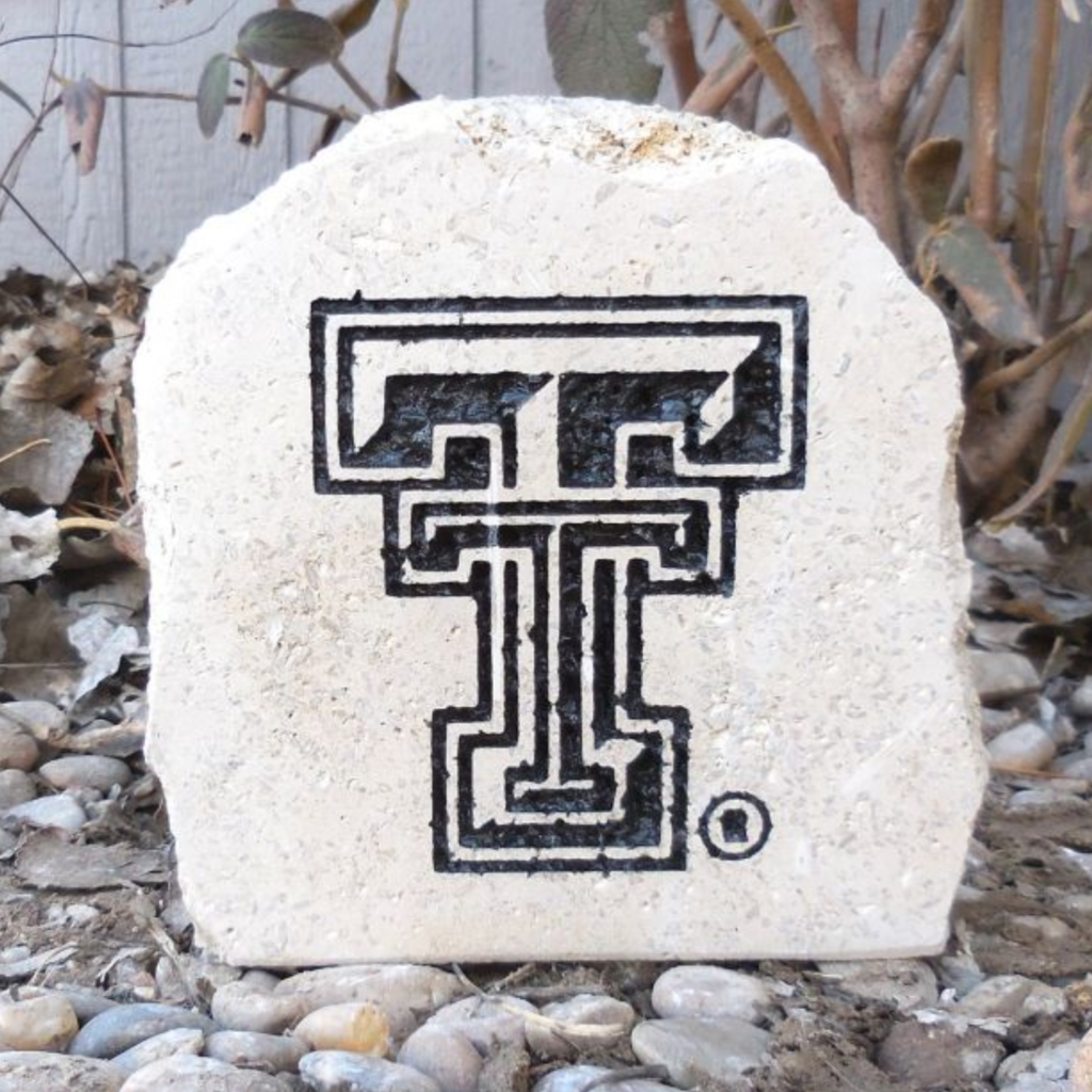 """Mini Engraved Double T Garden Stone 7"""""""