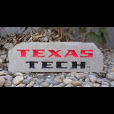 Small Rectangle Texas Tech Engraved Garden Stone