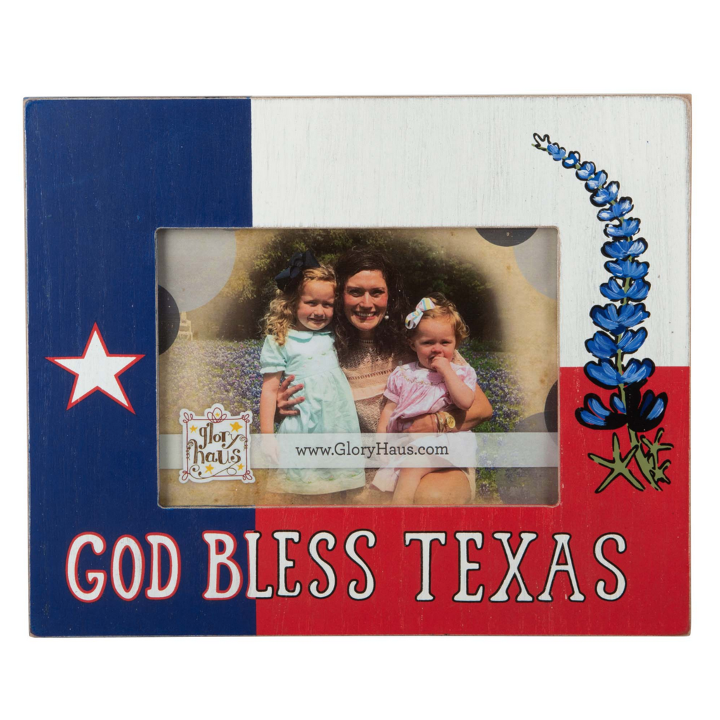 God Bless Texas Picture Frame
