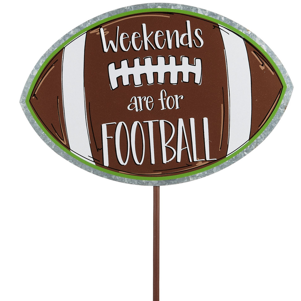 Weekends Are For Football Garden Stake