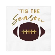 Tis The Season Football Napkin - 20 count