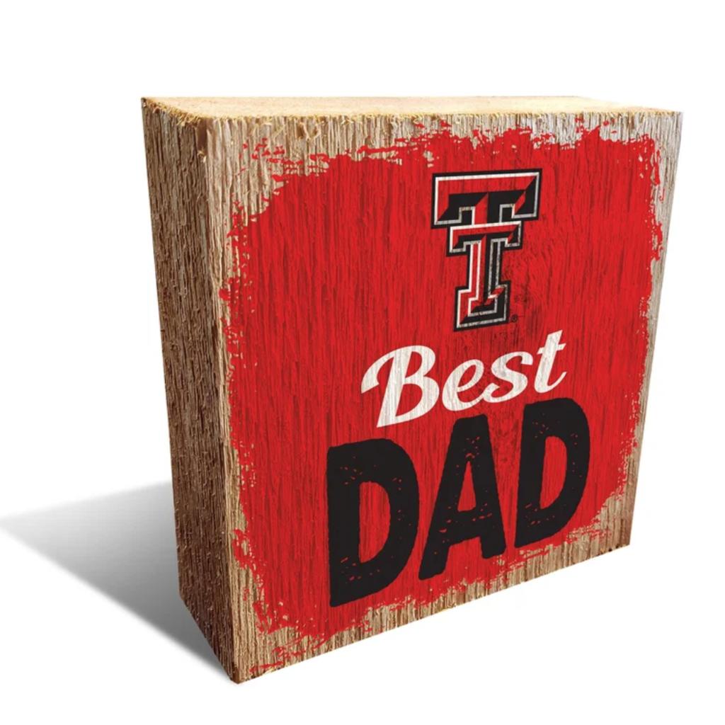 Best Dad Wooden Block
