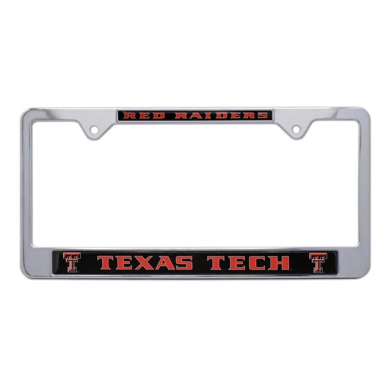 Domed Double T License Frame