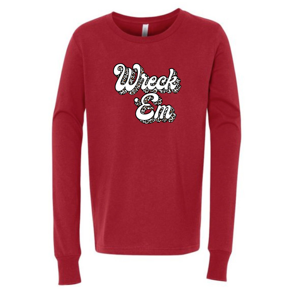 Bubble Wreck Em Youth Long Sleeve Tee