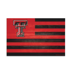 Double T Flag Wood Sign 11x17