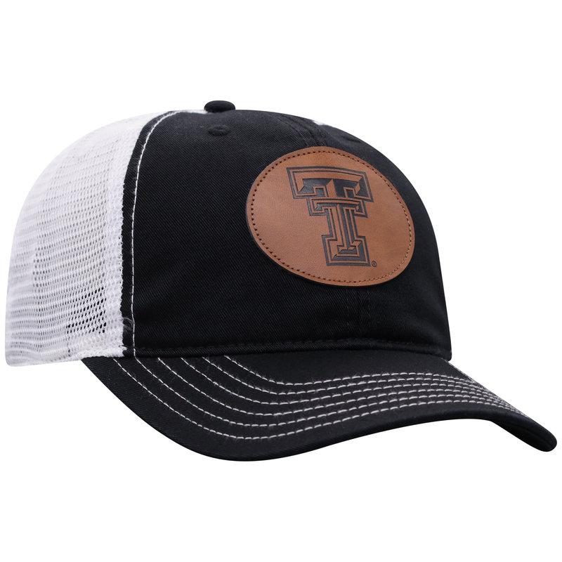 Fleet Oval Leather Patch Black/White Mesh Cap