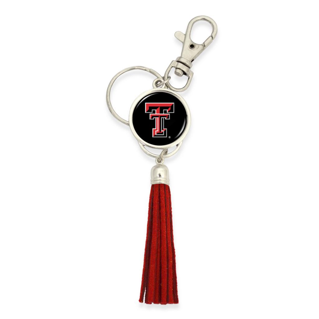 Red Suede Tassle Keychain