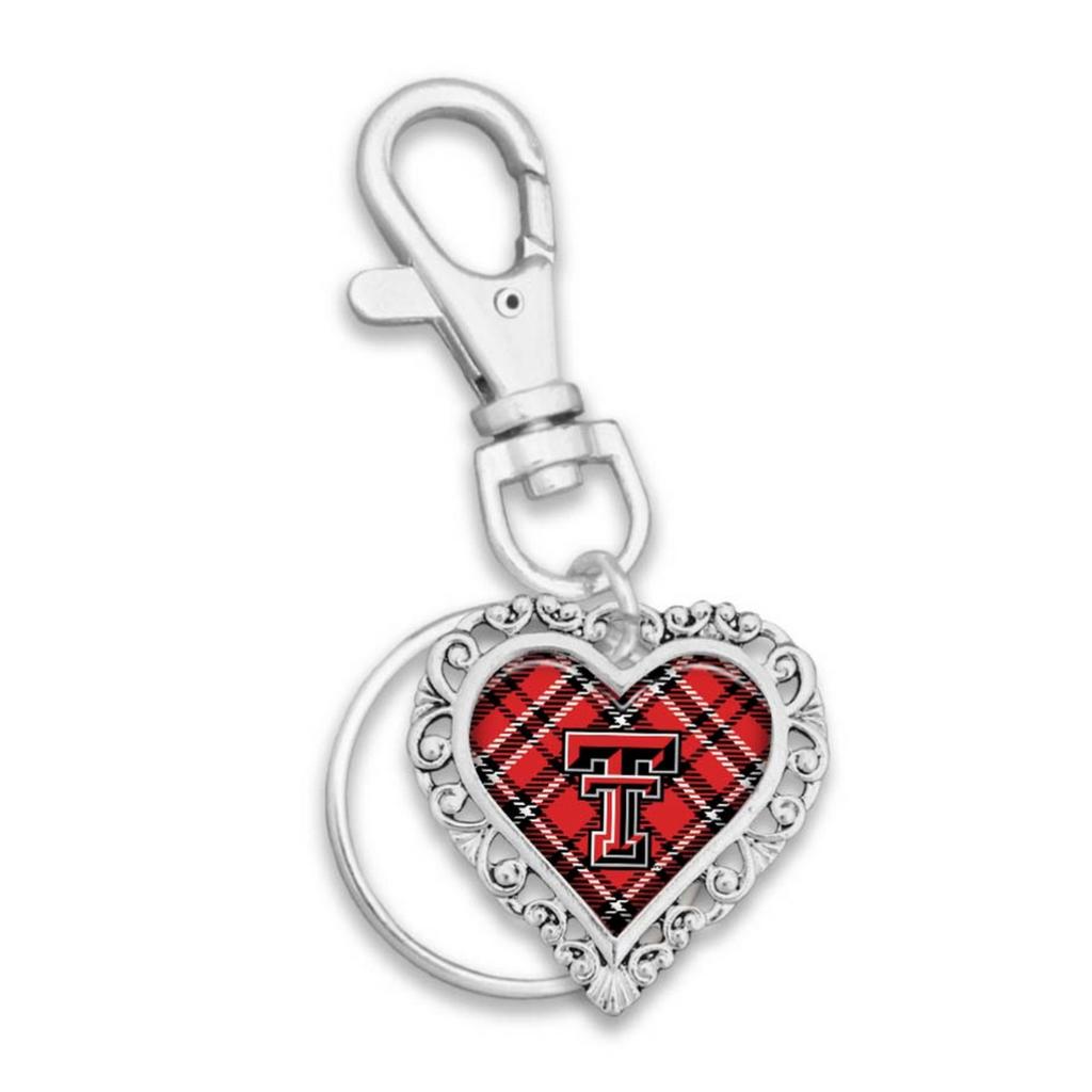 Plaid Hearth Silver Keychain