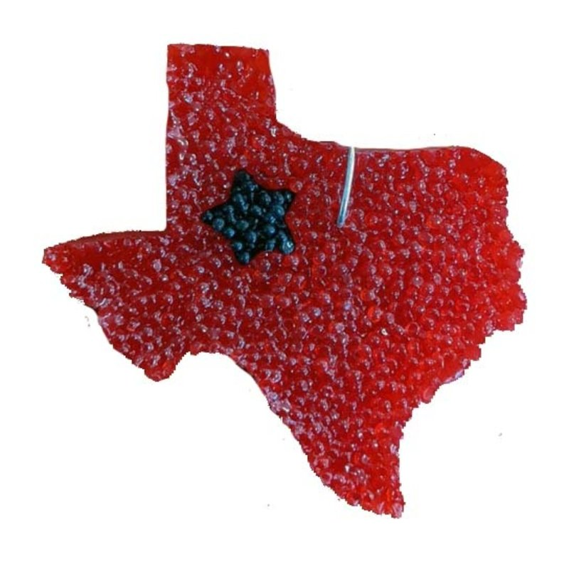 Texcents Freshies State of Texas Car Freshner Red/Black