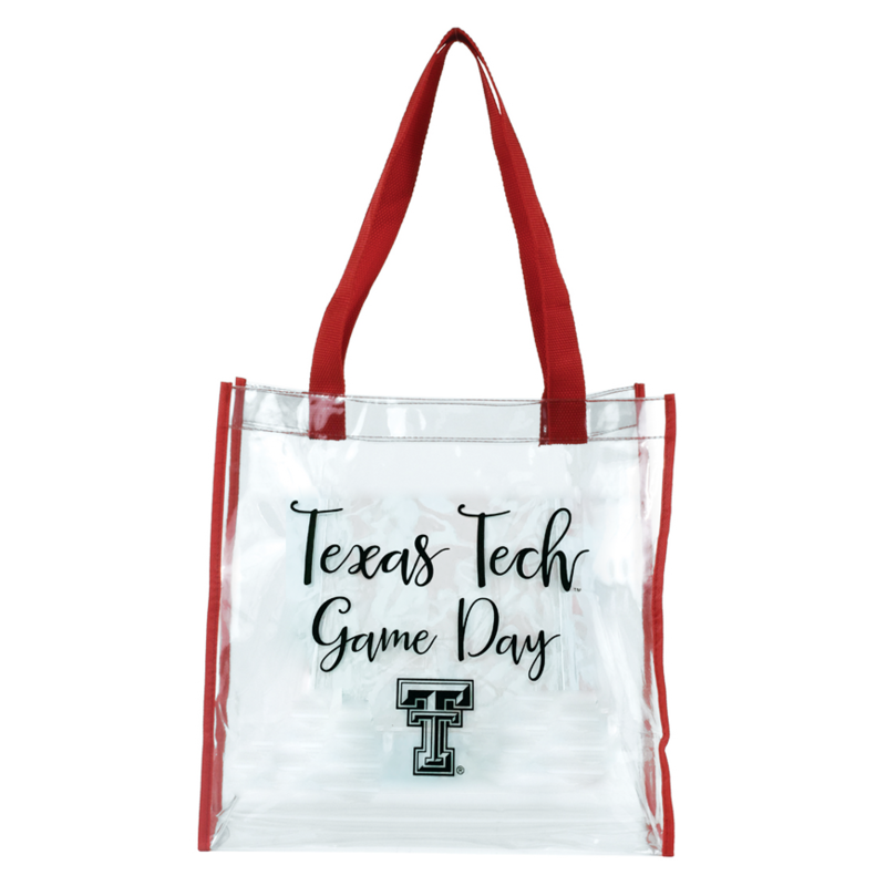Game Day Bag - Clear with Red Strap Texas Tech