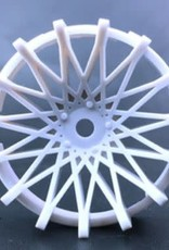 Tetsujin TT-7525 Super Rim Dahlia Heavy White Disks 2pcs. by Tetsujin