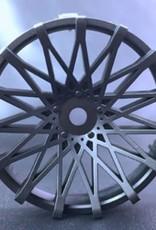 Tetsujin TT-7539 Super Rim Dahlia Matte Black Disks 2pcs. by Tetsujin