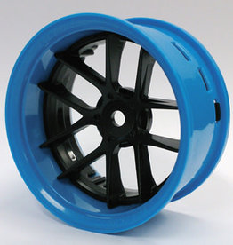 Tetsujin TT-7548 Super Rim Set Blue Rim/ Black Jasmine 2pcs. by Tetsujin
