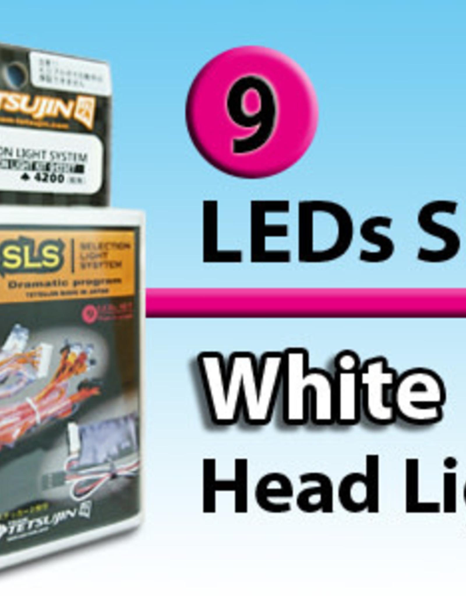 Tetsujin TT-7816 ''SLS'' 9 LED set (Front 4 Rear 5) for RC Car by Tetsujin