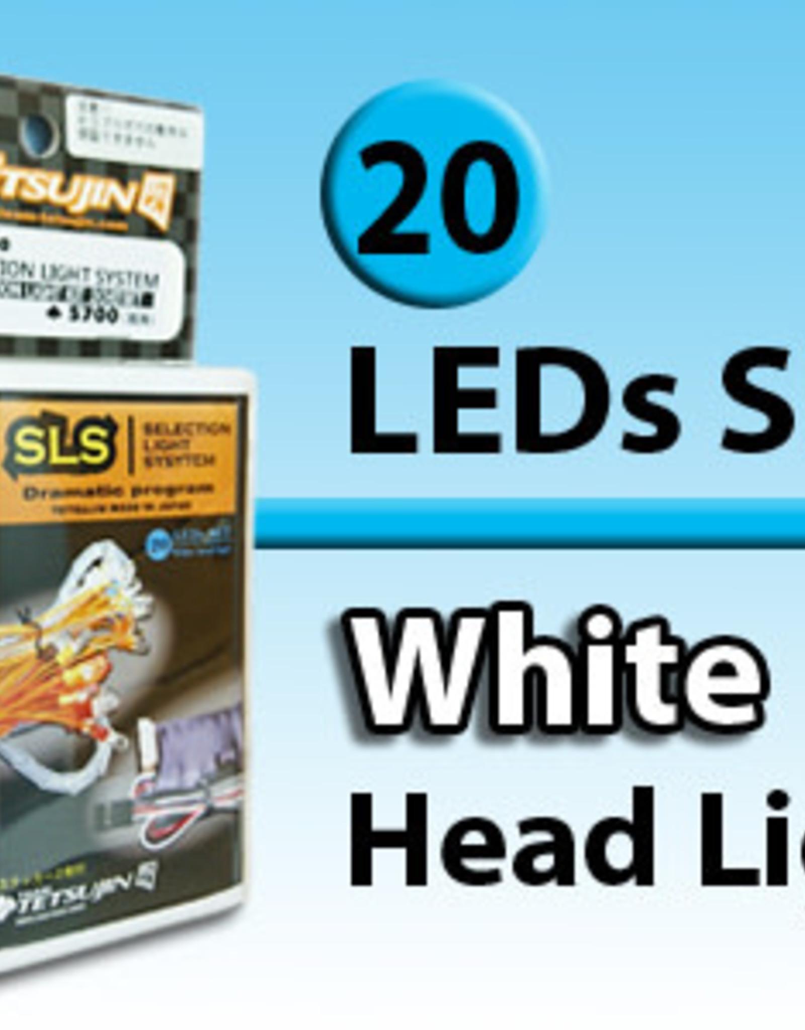 Tetsujin TT-7830 ''SLS'' 20 LED set (Front 10 Rear 10) for RC Car by Tetsujin