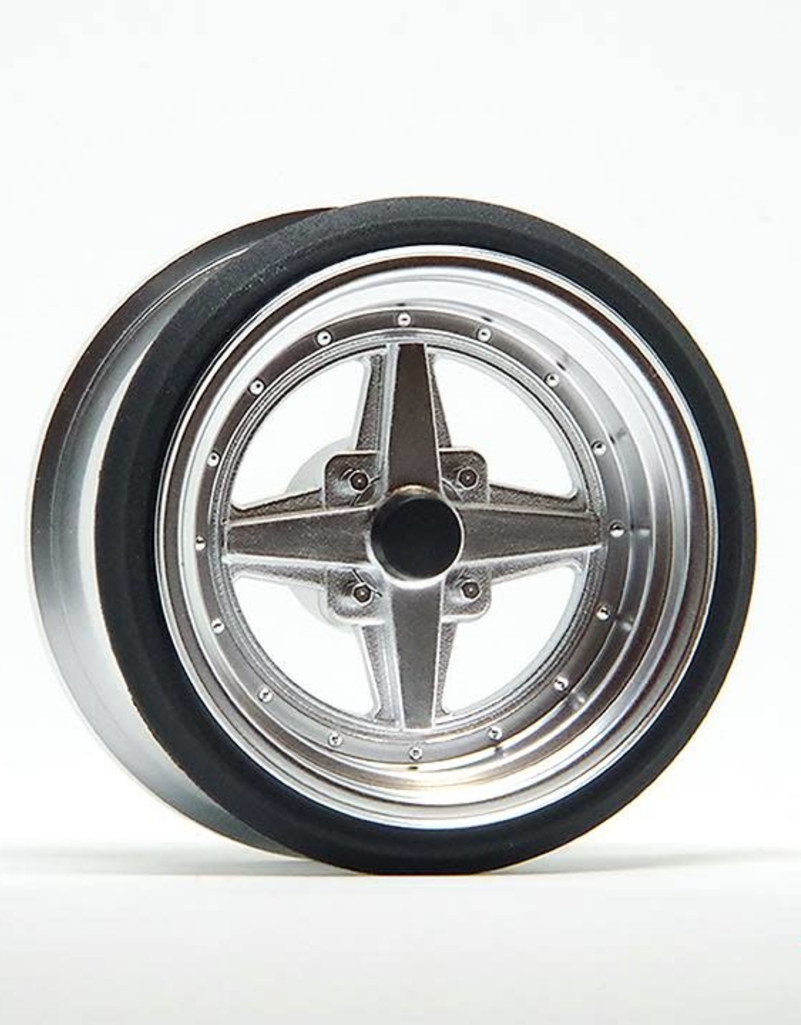 Scale Dynamics V16D 10114 Work Equip 01 Aluminum Silver Wheels by Scale Dynamics 10mm