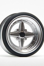 Scale Dynamics V16D Work Equip 01 Aluminum Silver Wheels by Scale Dynamics 13mm