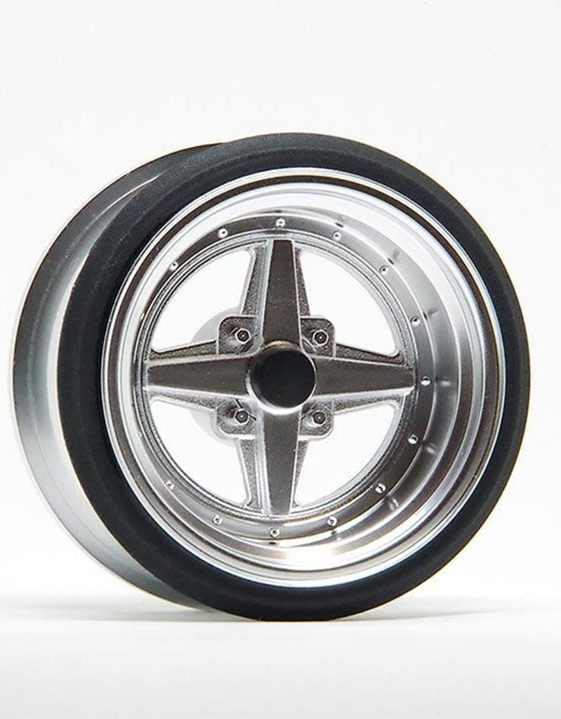 Scale Dynamics V16D Work Equip 01 10113 Aluminum Silver Wheels by Scale Dynamics 13mm