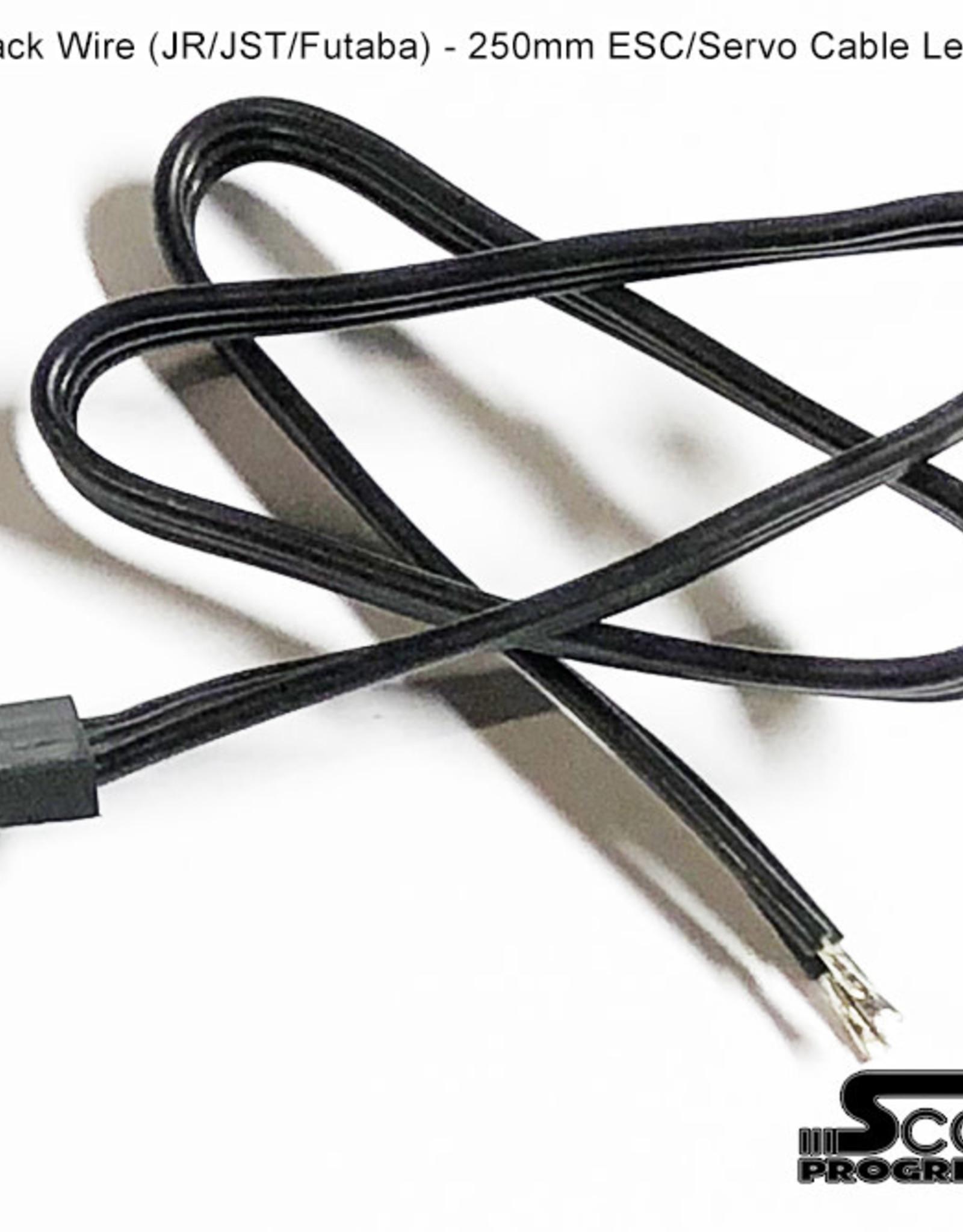 SR700150 250mm Servo Lead Black Bare End (DIY) Scale Reflex 700150