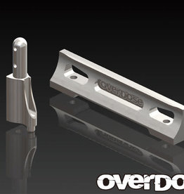 OVERDOSE OD1402 ALUMINUM BATTERY HOLDER SET (DRIFT PACKAGE) (SILVER) - OVERDOSE OD1402