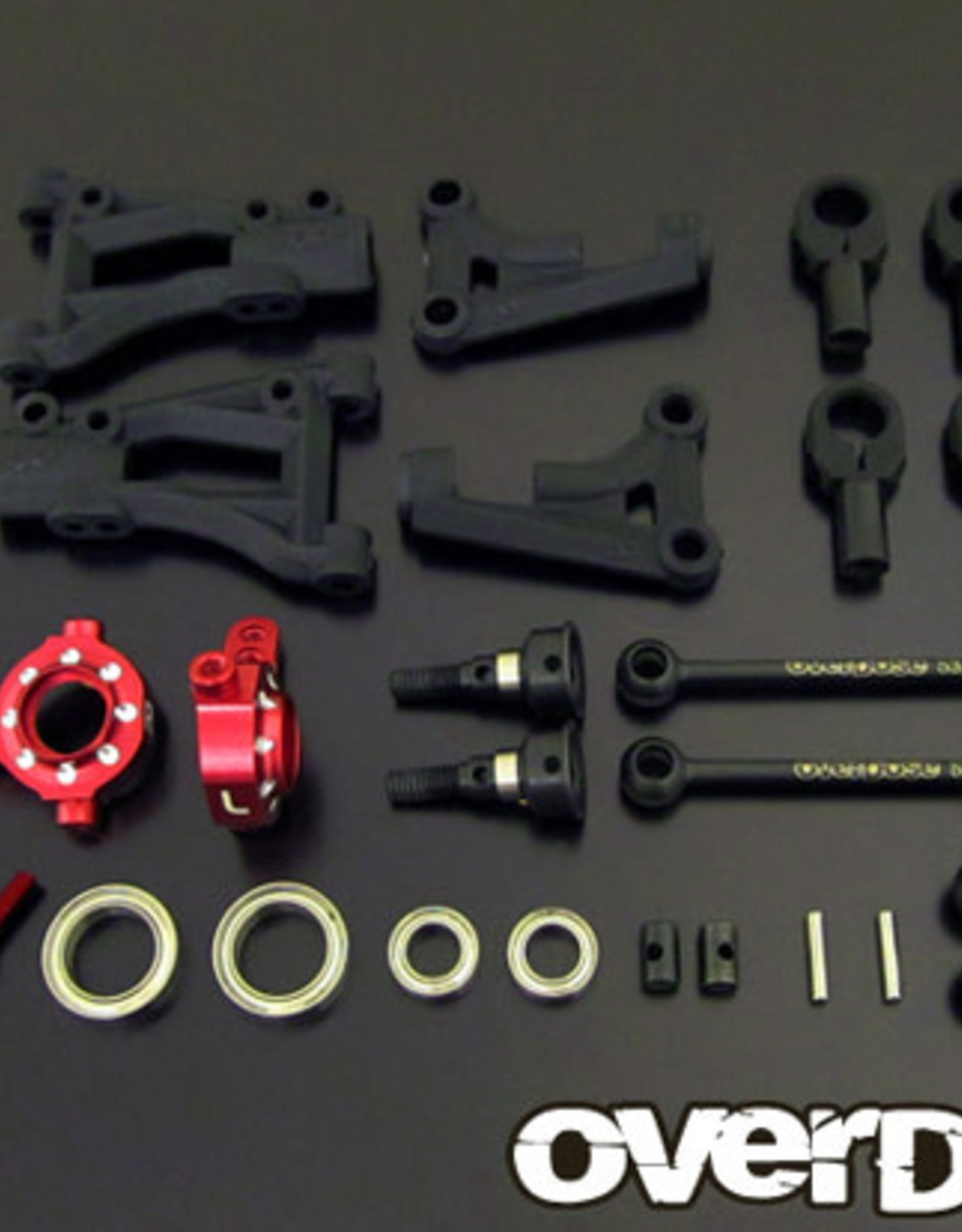 OVERDOSE OD1617 FRONT A-ARM SUSPENSION KIT /VACULA, DIVALL, XEX /RED - OVERDOSE OD1617