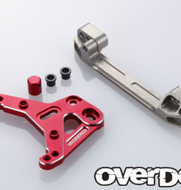 OVERDOSE OD2066 ALUMINUM SLIDE RACK STEERING SET (XEX) (RED) - OVERDOSE OD2066