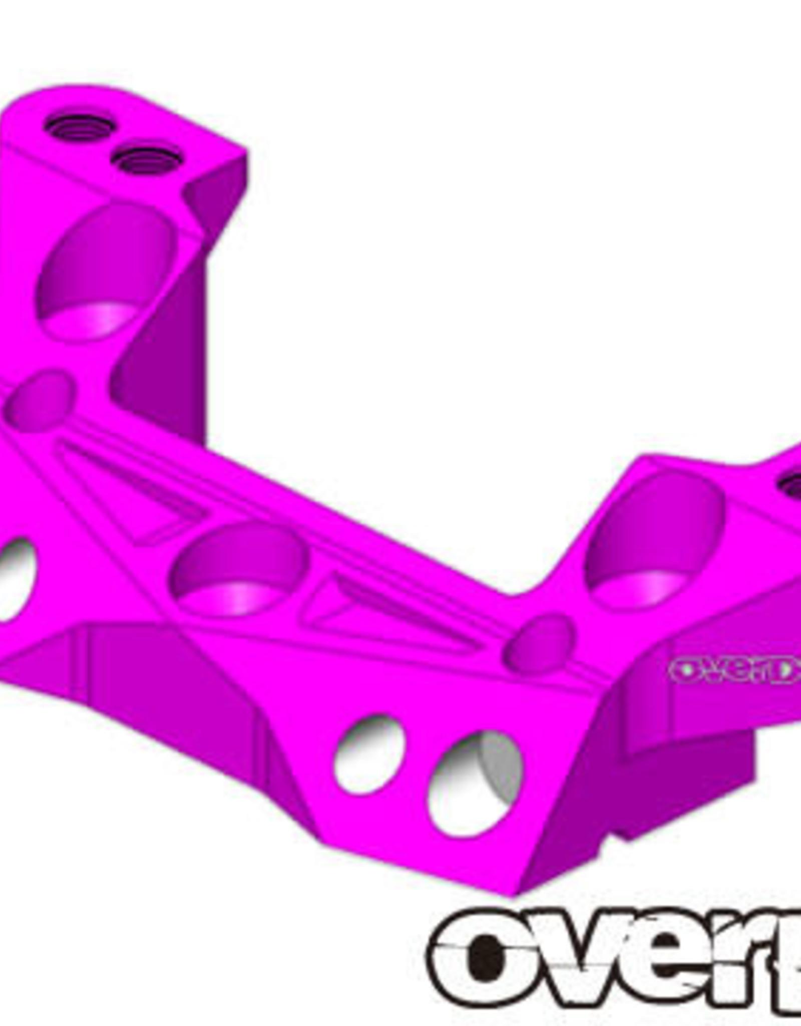OVERDOSE OD2171 ALUMINUM REAR UPPER ARM MOUNT (XEX) (PURPLE) - OVERDOSE OD2171