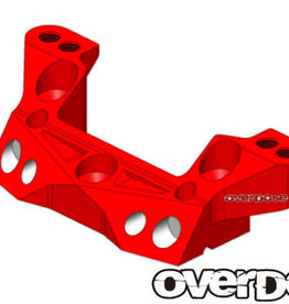OVERDOSE OD2172 ALUMINUM REAR UPPER ARM MOUNT (XEX) (RED) - OVERDOSE OD2172