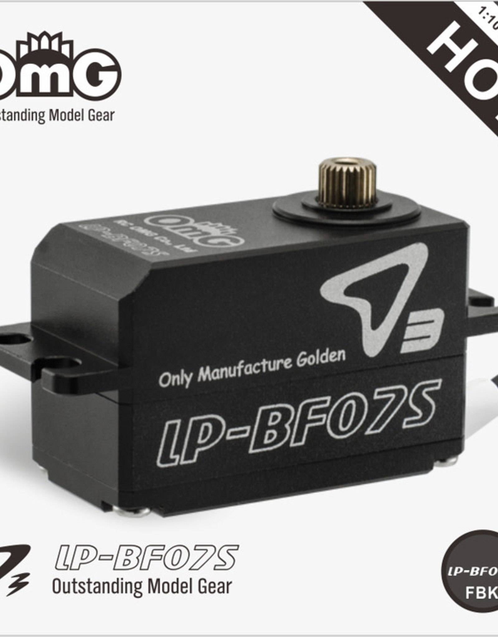 OmG OMGD3-LP-BF07S-FB Low-Pro Full Metal Brushless Digital Servo (Full Black) - RCOMG D3-LP-BF07S-FB