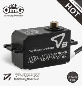 OmG OMGD3-LP-BF07S-FB Low-Pro Full Metal Brushless Digital Servo (Full Black) - RCOMG D3-LP-BF07S-FB