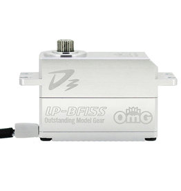 OmG OMGD3-LP-BF15S-FS Low-Pro Full Metal Brushless Digital Servo (Full Silver) - RC OMG D3-LP-BF15S-FS