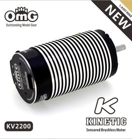 OmG OMGkinetic-4274-2200kv Kinetic 1:8 Offroad Brushless Motor (2200 kv) - RCOMG kinetic-4274-2200kv