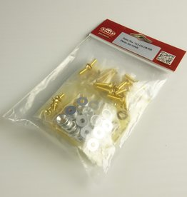 OmG OMGTG-GL08-S GRK Gold Screws and Spacers (Silver) - RCOMG TG-GL08-S