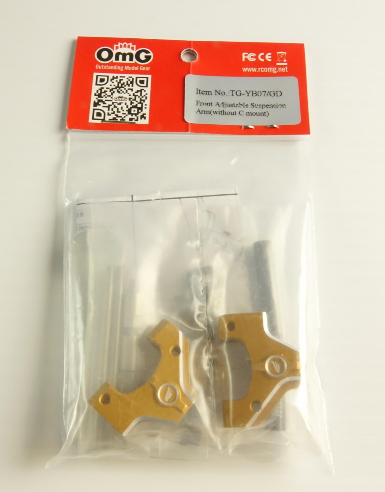 OmG OMGTG-YB07-GD Front Adjustable Suspension Arm (Gold) - RCOMG TG-YB07-GD