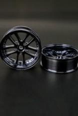 Speedline SL289BT8 - LX 10-Spokes Narrow RWD wheels (2) offset-9 52x20mm Black Titanium - Speedline
