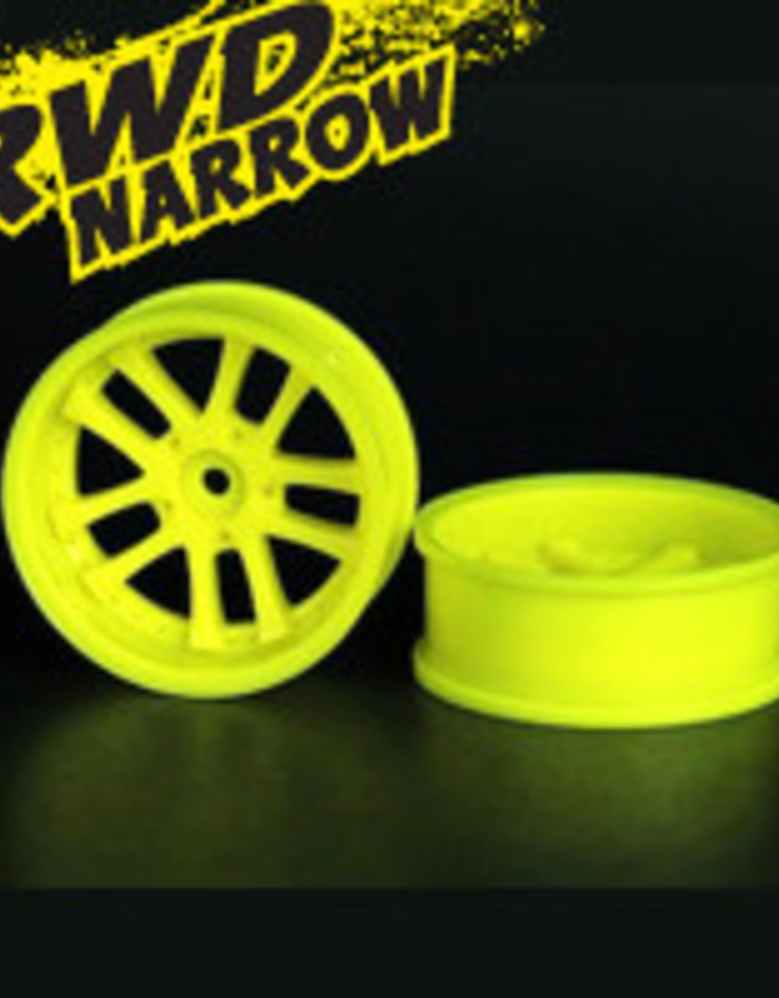 Speedline SL289L7 - LX 10-Spokes Narrow RWD wheels (2) offset-9 52x20mm Fluorescent Yellow - Speedline
