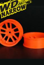 Speedline SL289O7 - LX 10-Spokes Narrow RWD wheels (2) offset-9 52x20mm Fluorescent Orange - Speedline