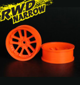 Speedline SL289O7 - LX 10-Spokes Narrow RWD wheels (2) offset-9 52x20mm Fluorescent Orange - Speedline