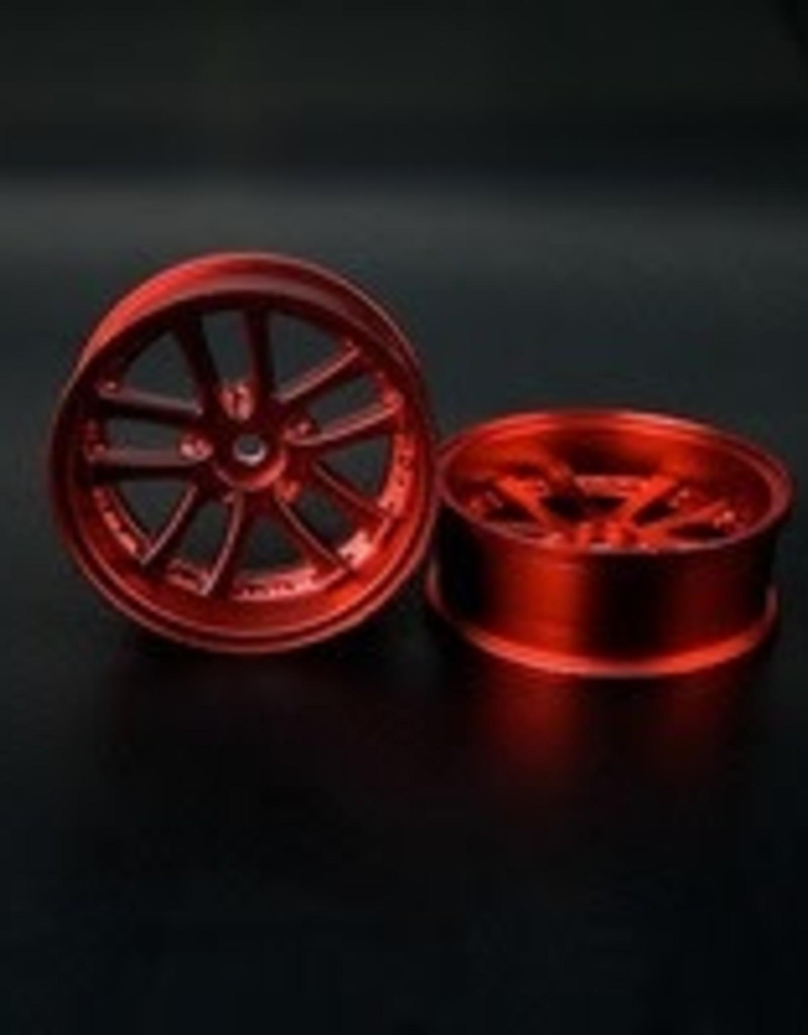 Speedline SL289R8 - LX 10-Spokes Narrow RWD wheels (2) offset-9 52x20mm Chrome Red - Speedline
