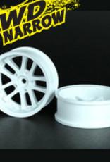 Speedline SL289W1 - LX 10-Spokes Narrow RWD wheels (2) offset-9 52x20mm White - Speedline