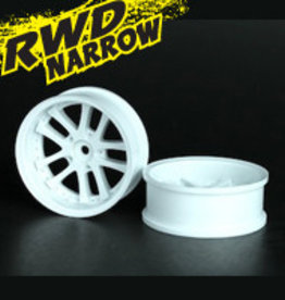 Speedline SL289W1 - LX 10-Spokes Narrow RWD wheels (2) offset-9 52x20mm White - Speedline