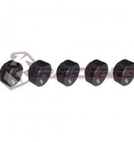 3Racing 3RAC-SAKD4802A - Sakura D4 15G Brass Weight Balancer 5 Pcs Gun Metal - 3Racing