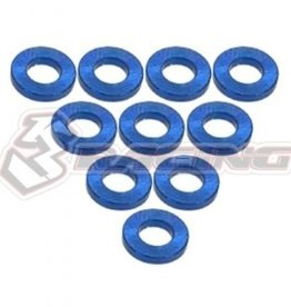 3Racing 3RAC-WF310/BU - Aluminium M3 Flat Washer 1.0mm 10Pcs Blue - 3Racing